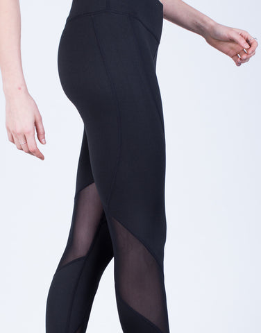 Detail of Mesh Paneled Leggings