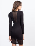 Back View of Mesh Contrast Dress