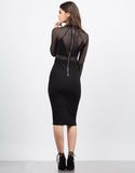 Back View of Mesh Contrast Party Dress