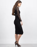 Side View of Mesh Contrast Party Dress