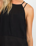 Detail of Mesh Contrast Strappy Tank