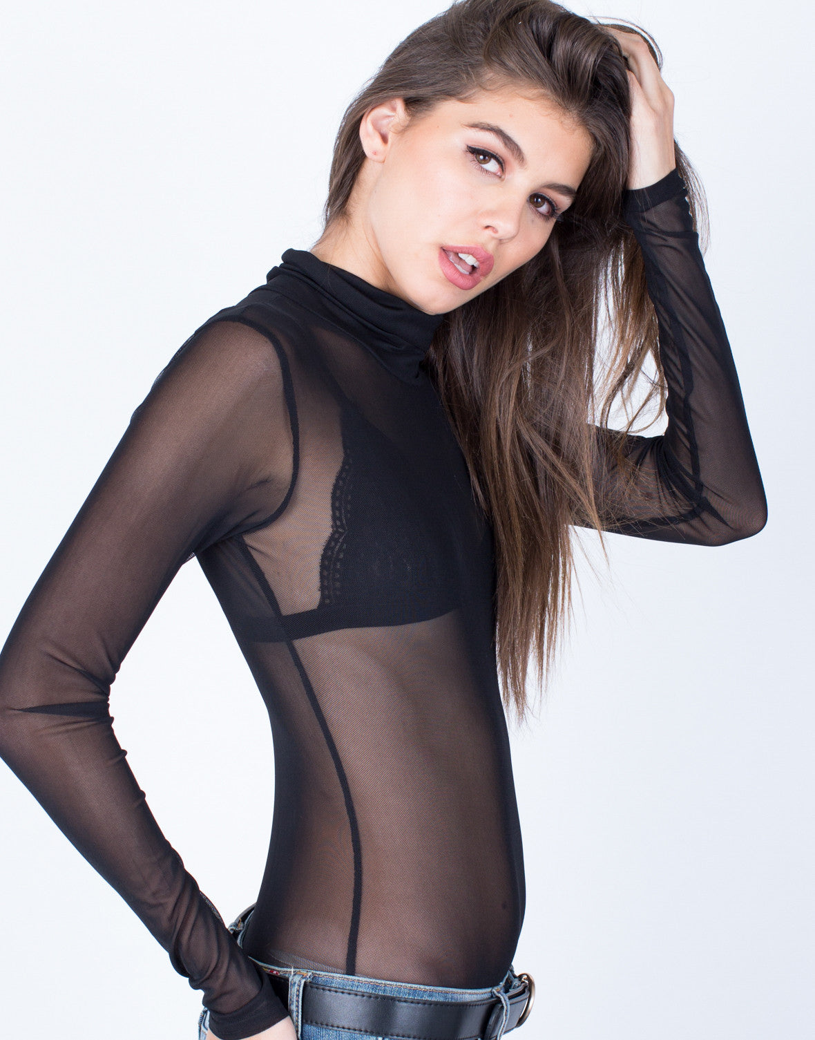 Detail of Meshed Out Bodysuit
