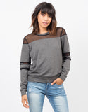 Mesh Sweater Top