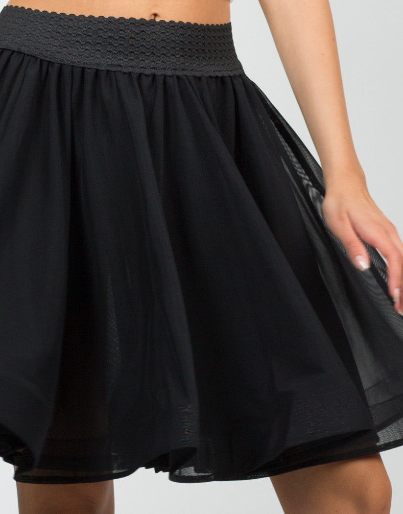Detail of Mesh Wired Swing Skirt