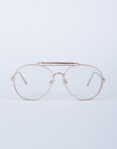 Metal Framed Clear Glasses
