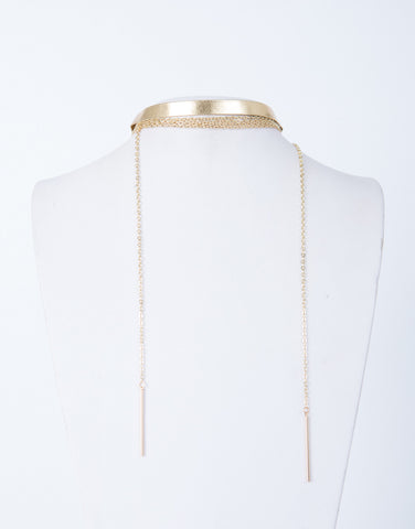 Metallic Gold Choker Set