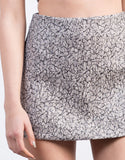 Detail of Metallic Woven Jacquard Mini Skirt