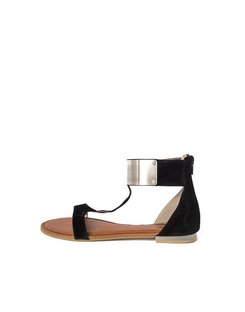 Metal Plate Suede Sandals - 2020AVE
