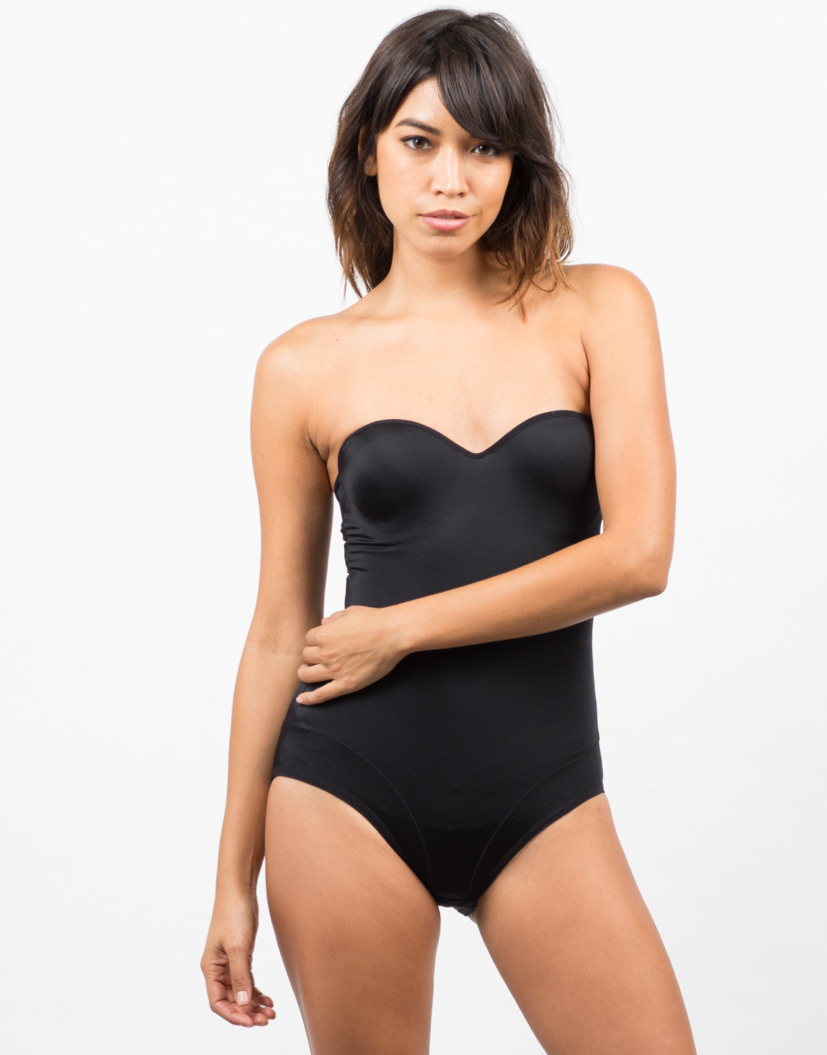 Front View of Microfiber Bodysuit