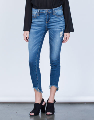 Mid-Rise Blue Denim Jeans - 2020AVE