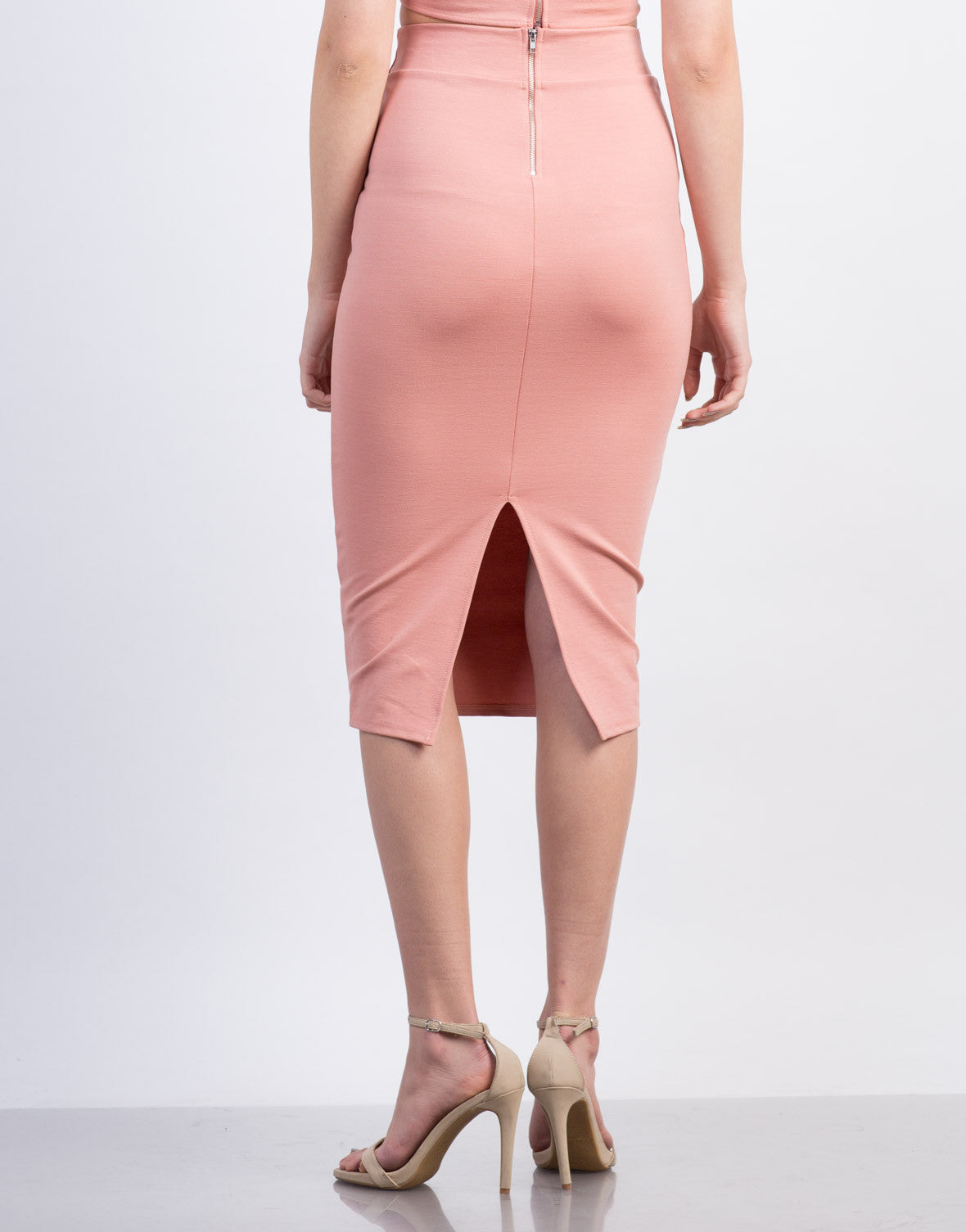 Back View of Midi Pencil Skirt