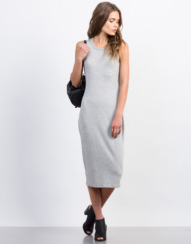 Midi Tank Twist Back Dress - 2020AVE