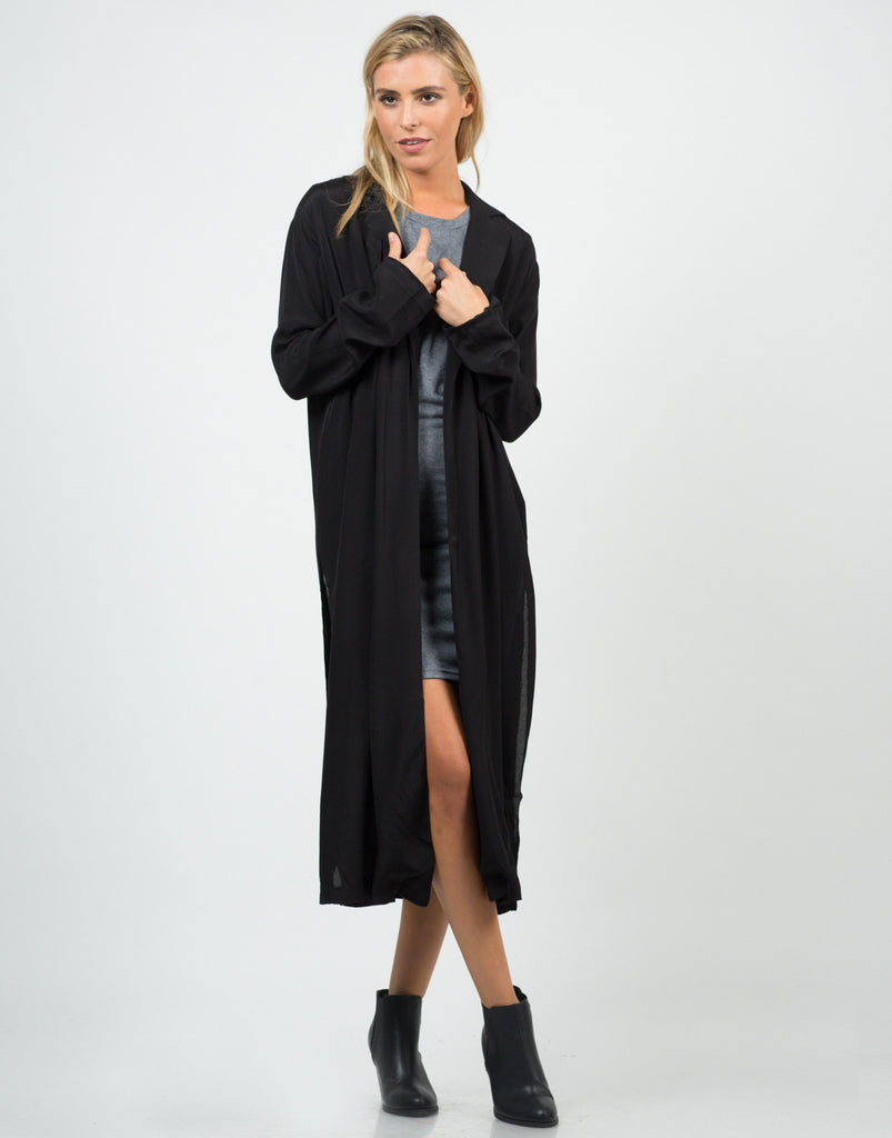 Mid-Length Open Collar Jacket - 2020AVE
