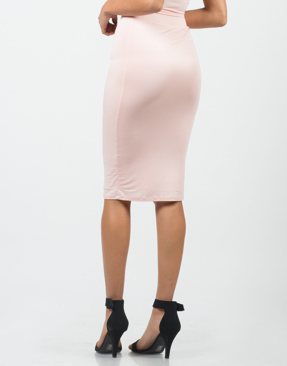 Back View of Mid Length Skirt