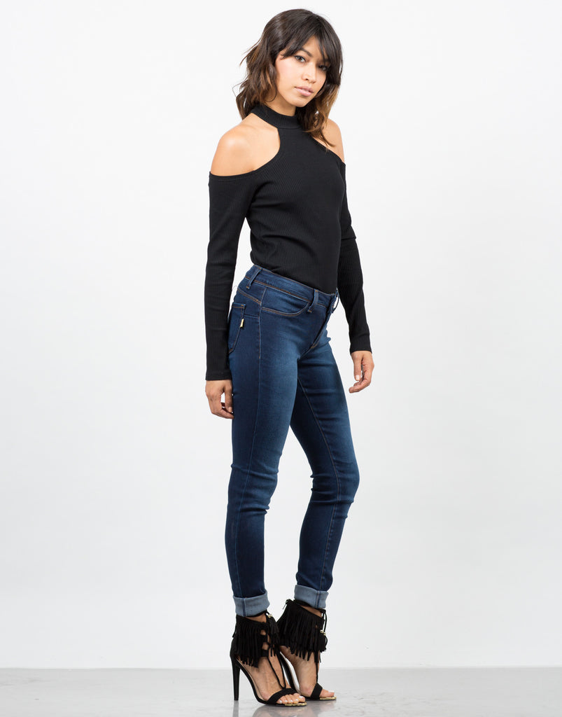 Mid-Rise Faded Jeans - 2020AVE