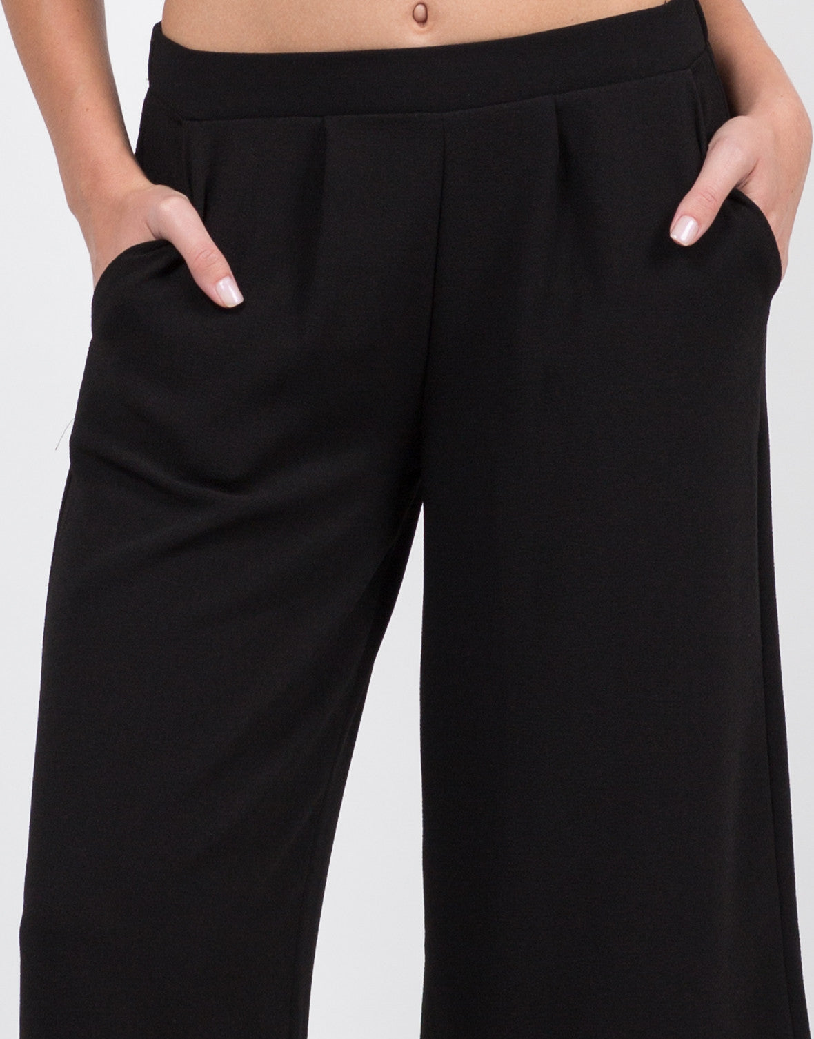 Detail of Mid Waist Culottes