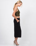 Side View of Mid Waist Culottes
