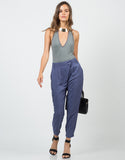 Front View of Mid Waisted Slouchy Pants
