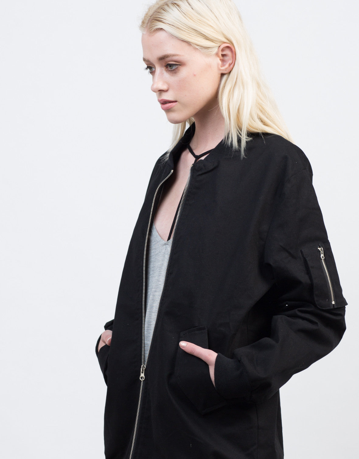 Detail of Military Bomber Jacket