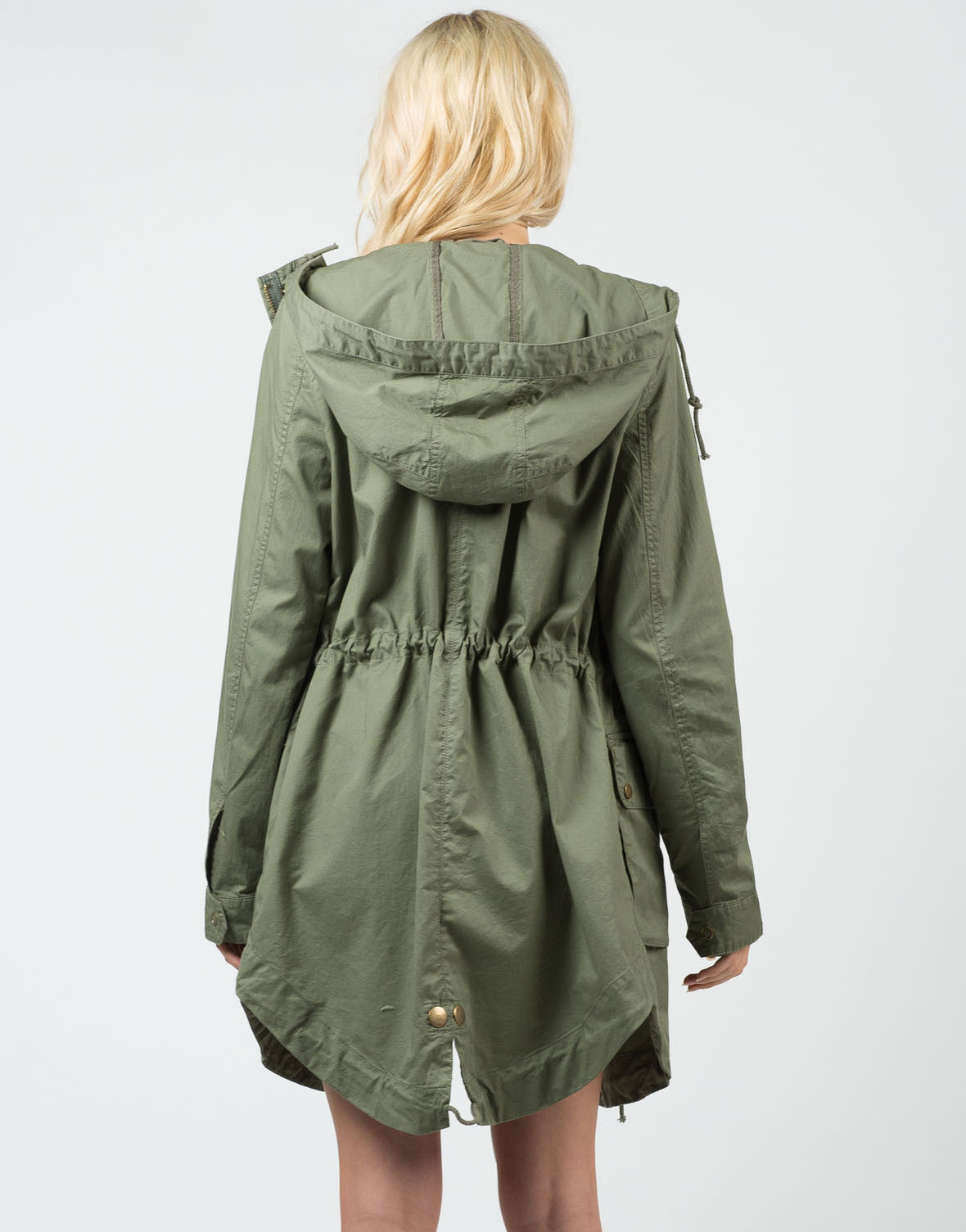 Back View of Military Anorak Jacket