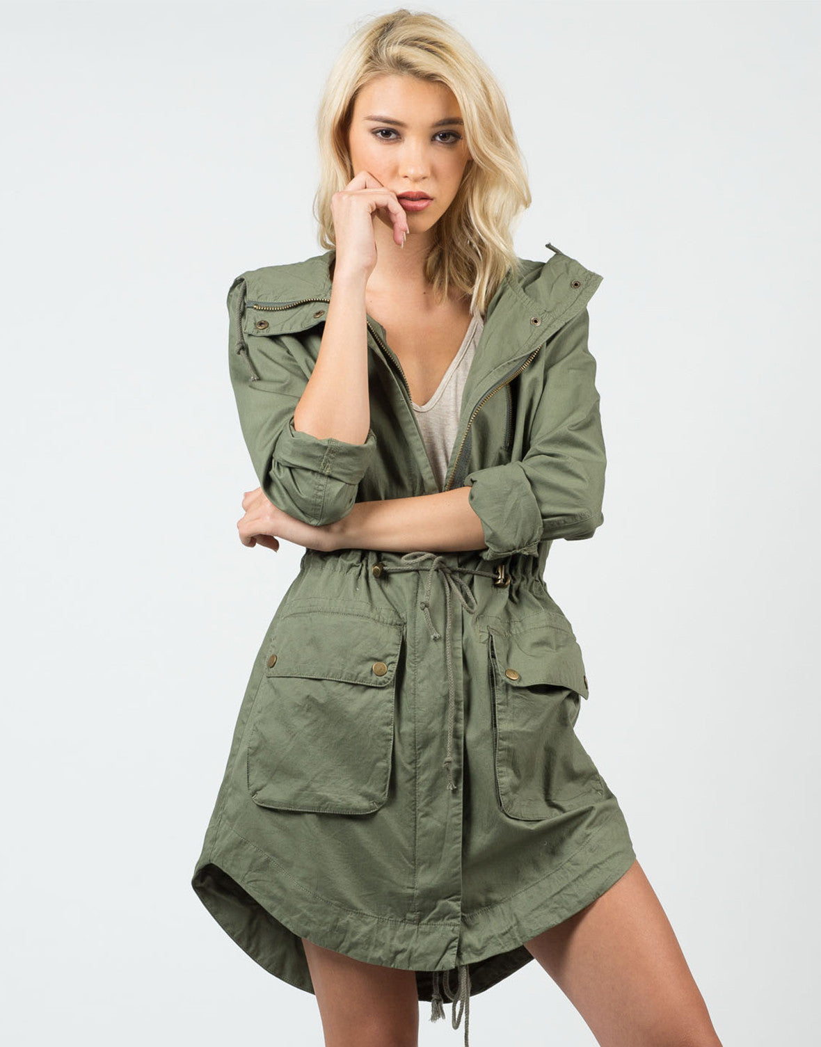 Front View of Military Anorak Jacket