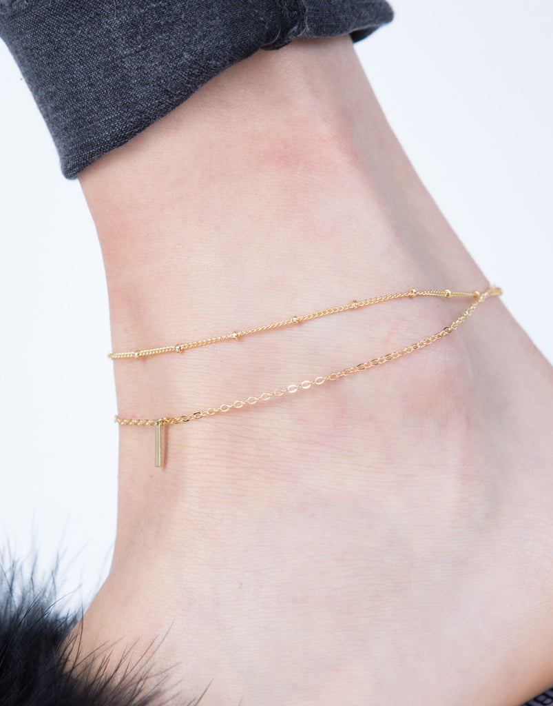 Mini Bar Chain Anklet