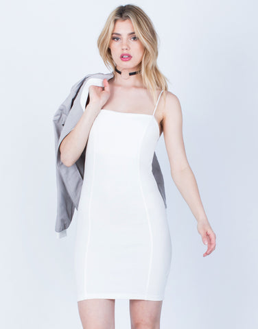 Front View of Mini Cami Bodycon Dress