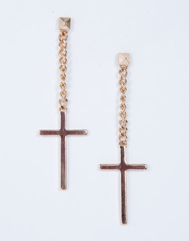 Mini Cross Earrings