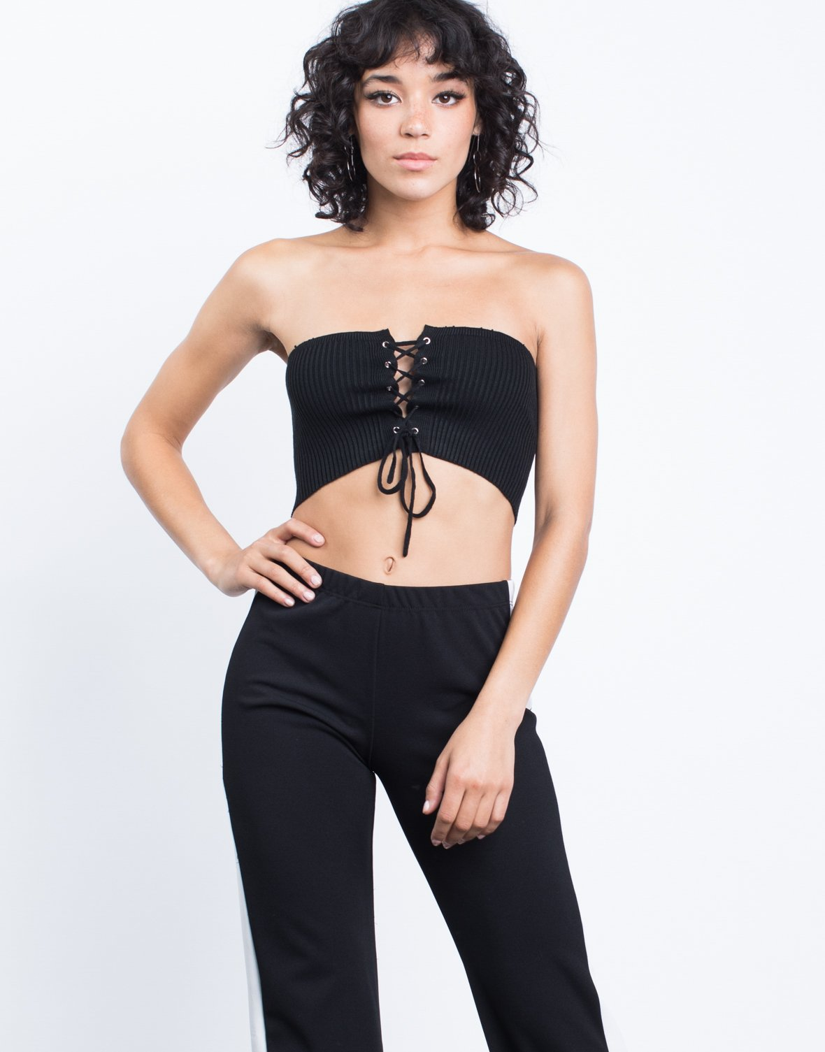 Mini Lace-Up Tube Top - 2020AVE