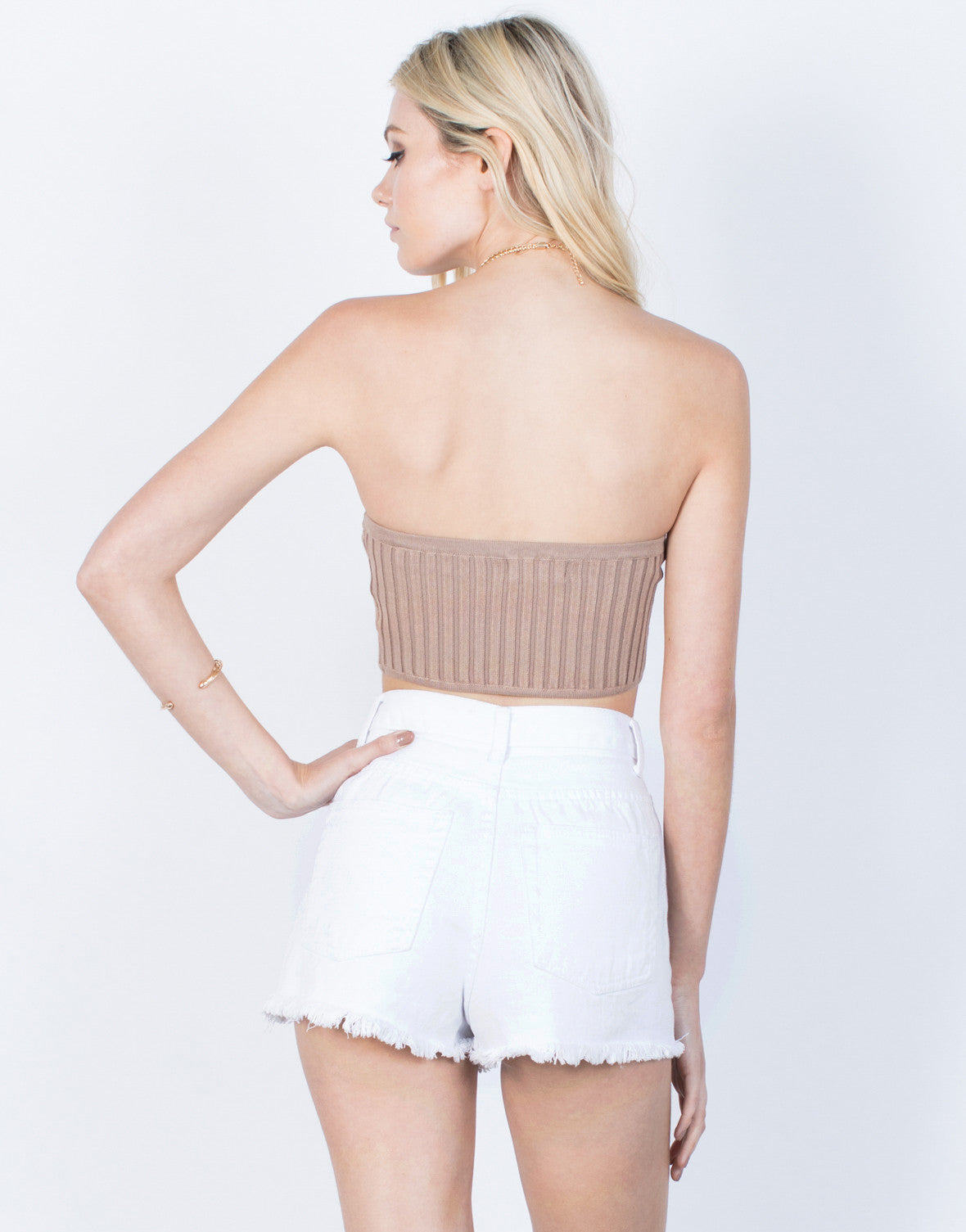 Back View of Mini Me Crop Top