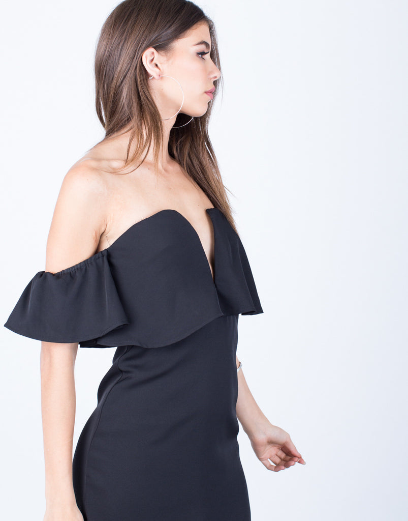 Detail of Mini Off-the-Shoulder Dress
