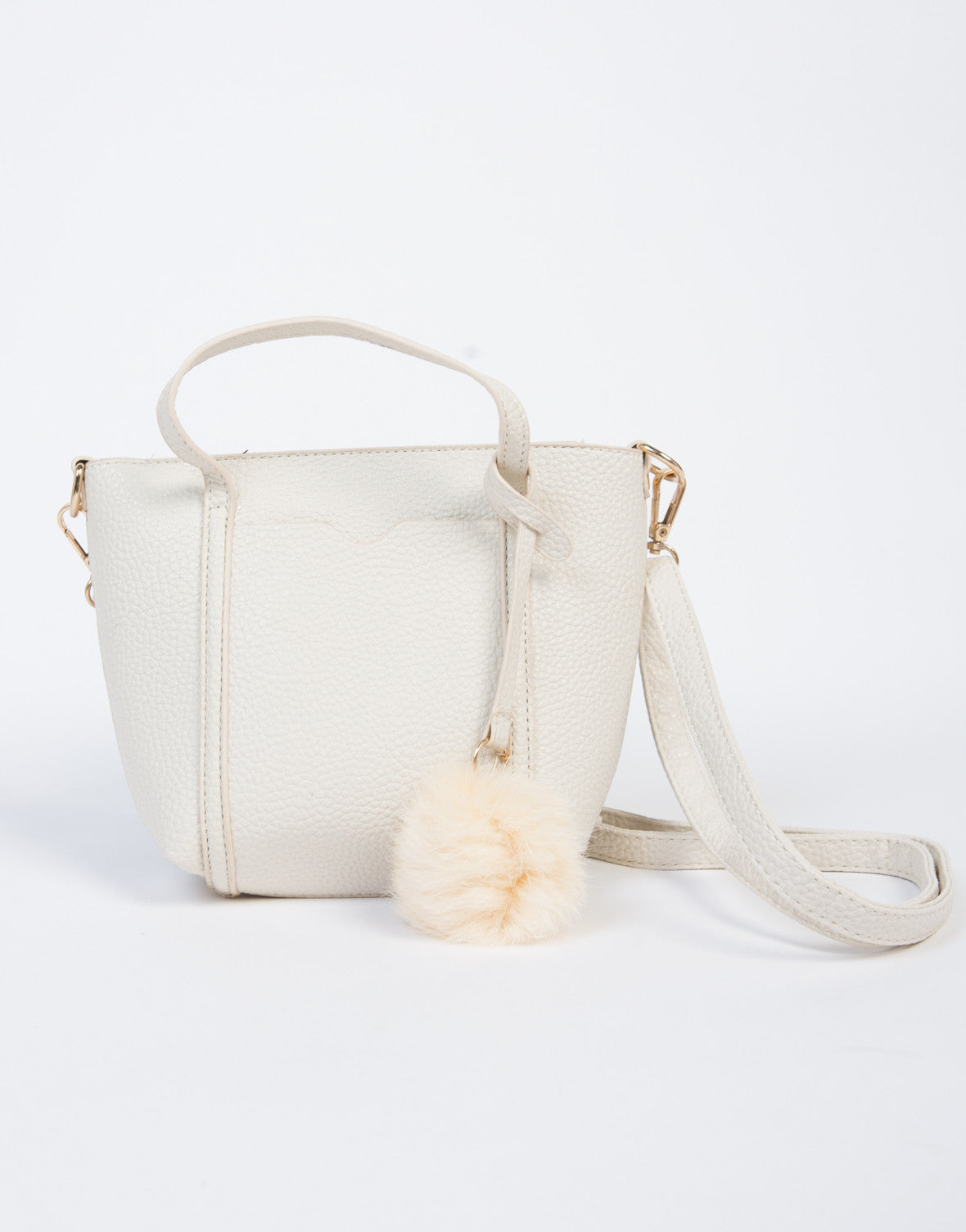 Mini Pom Crossbody Handbag