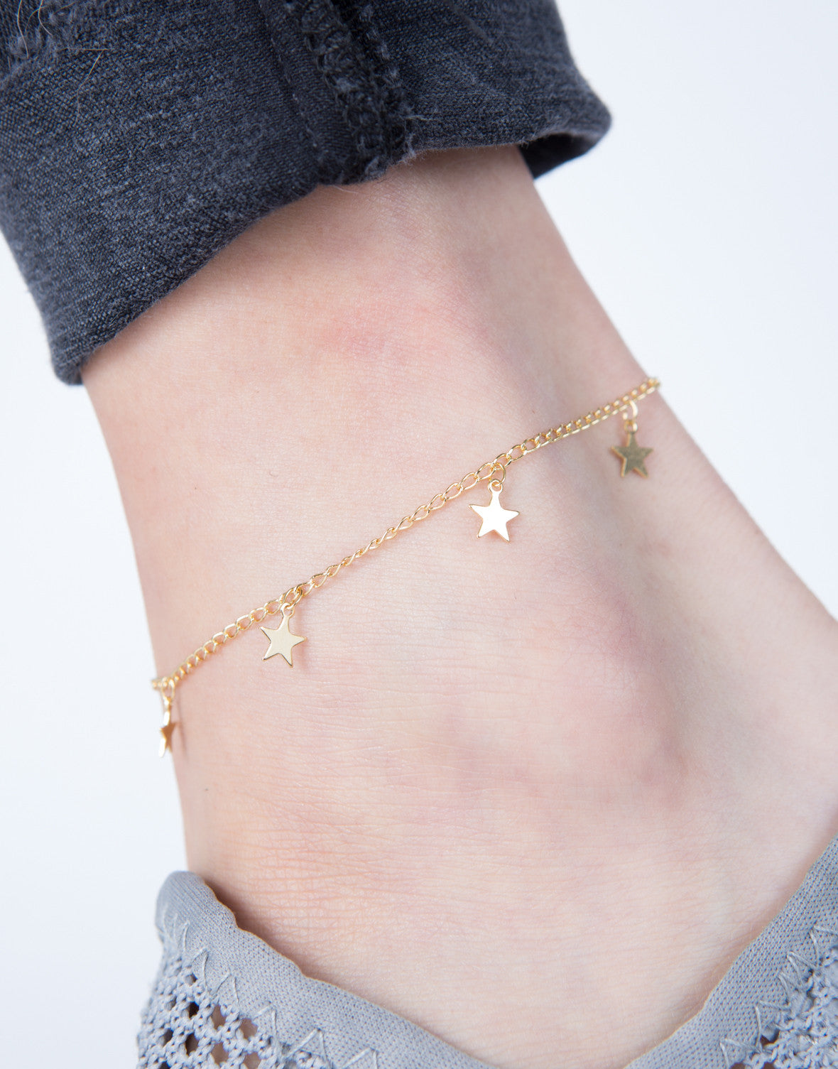 Mini Star Anklet