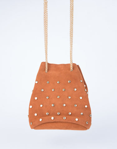 Mini Studded Bucket Bag