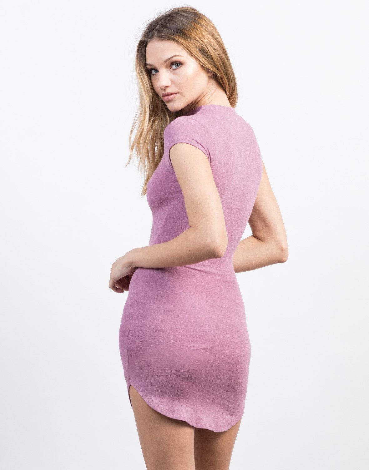 Back View of Mini Tee Bodycon Dress