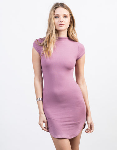 Front View of Mini Tee Bodycon Dress
