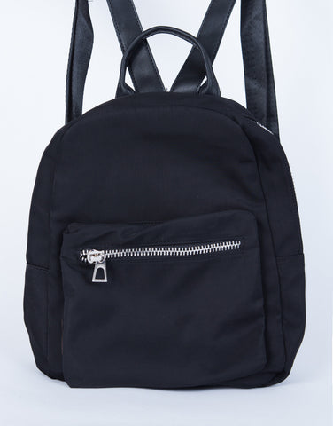 Mini Zip Up Backpack