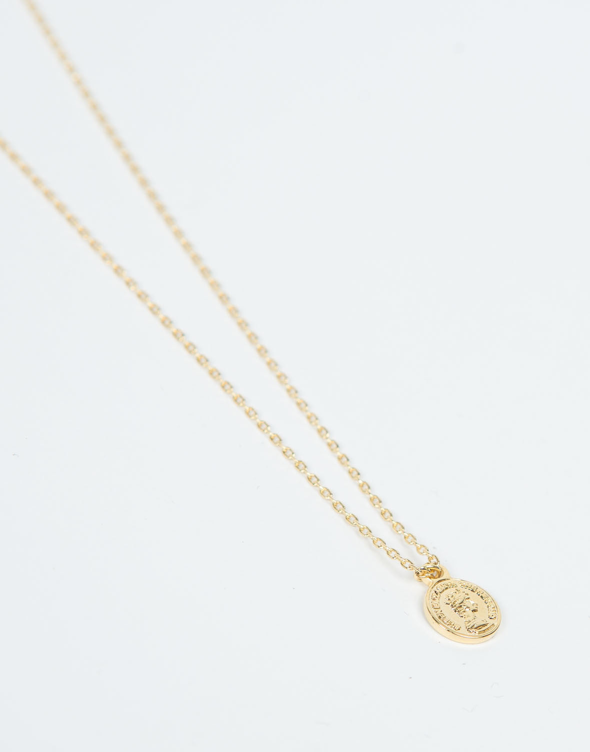 Detail of Mini Coin Pendant Necklace