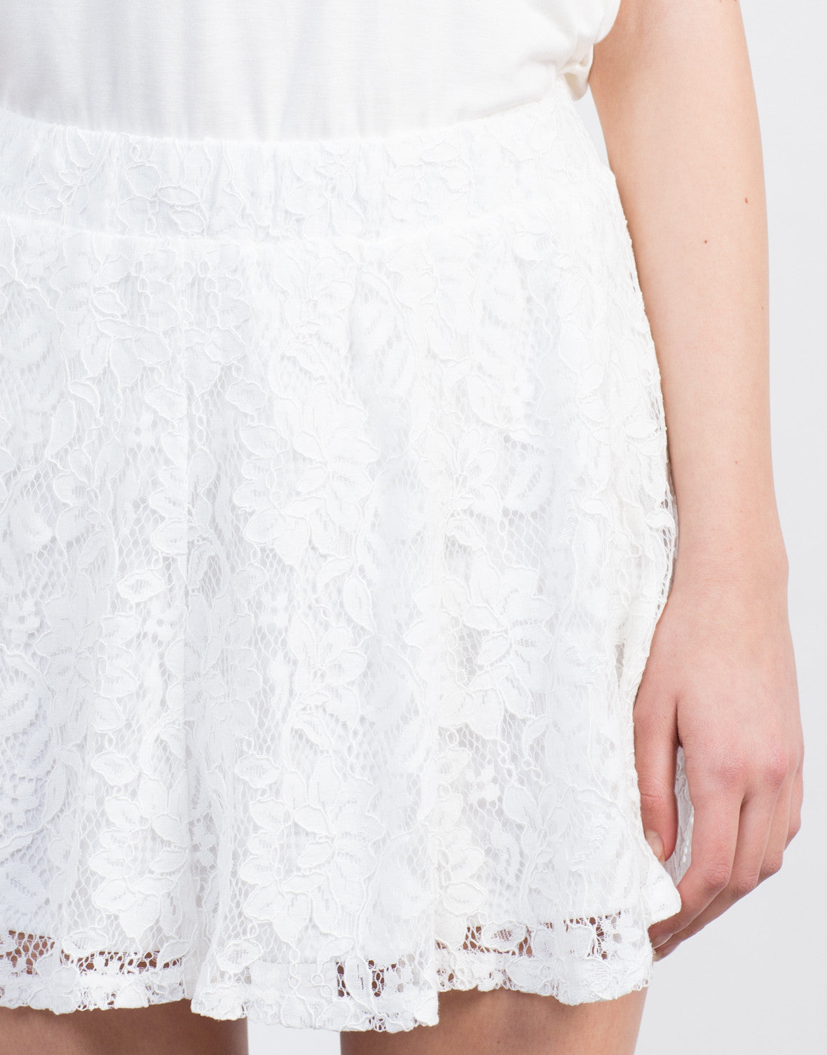 Detail of Mini Lace Skirt