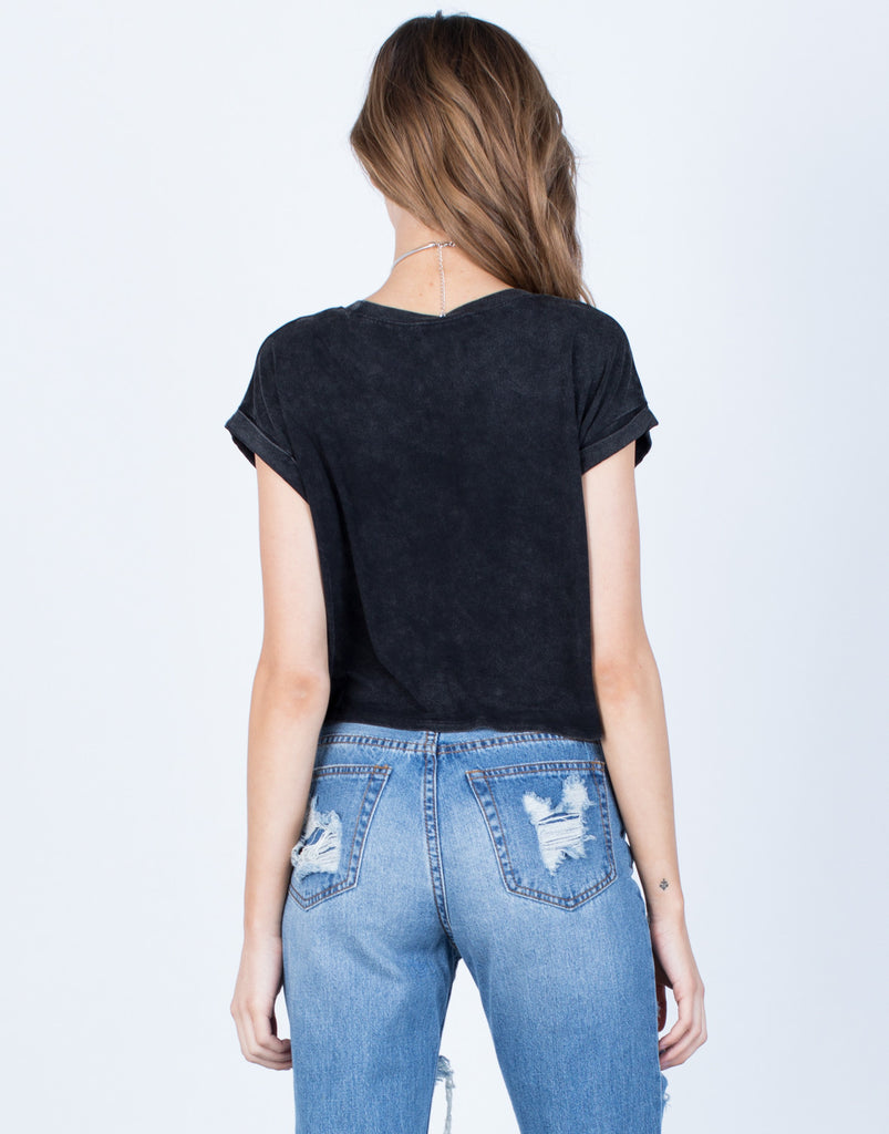 Back View of Minimal Cropped Tee