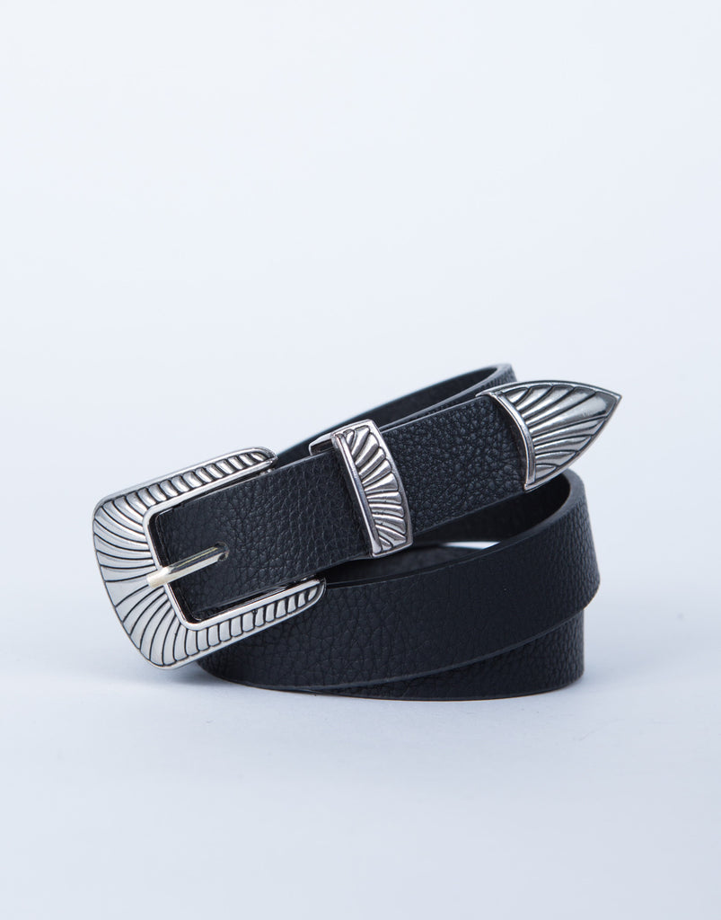 Minimal Leather Belt