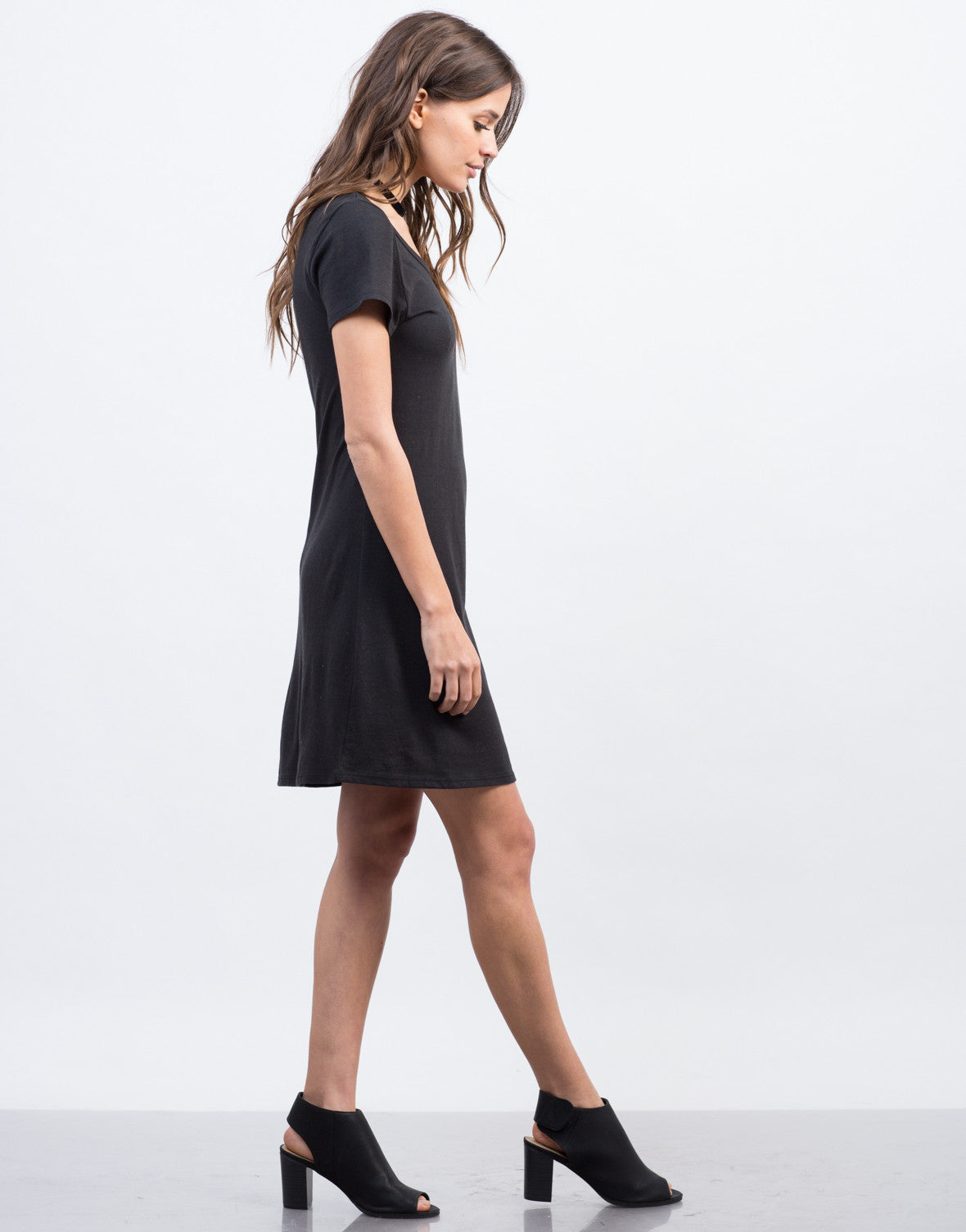 Side View of Minimalist Tee Dress