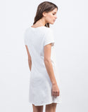 Back View of Minimalist Tee Dress
