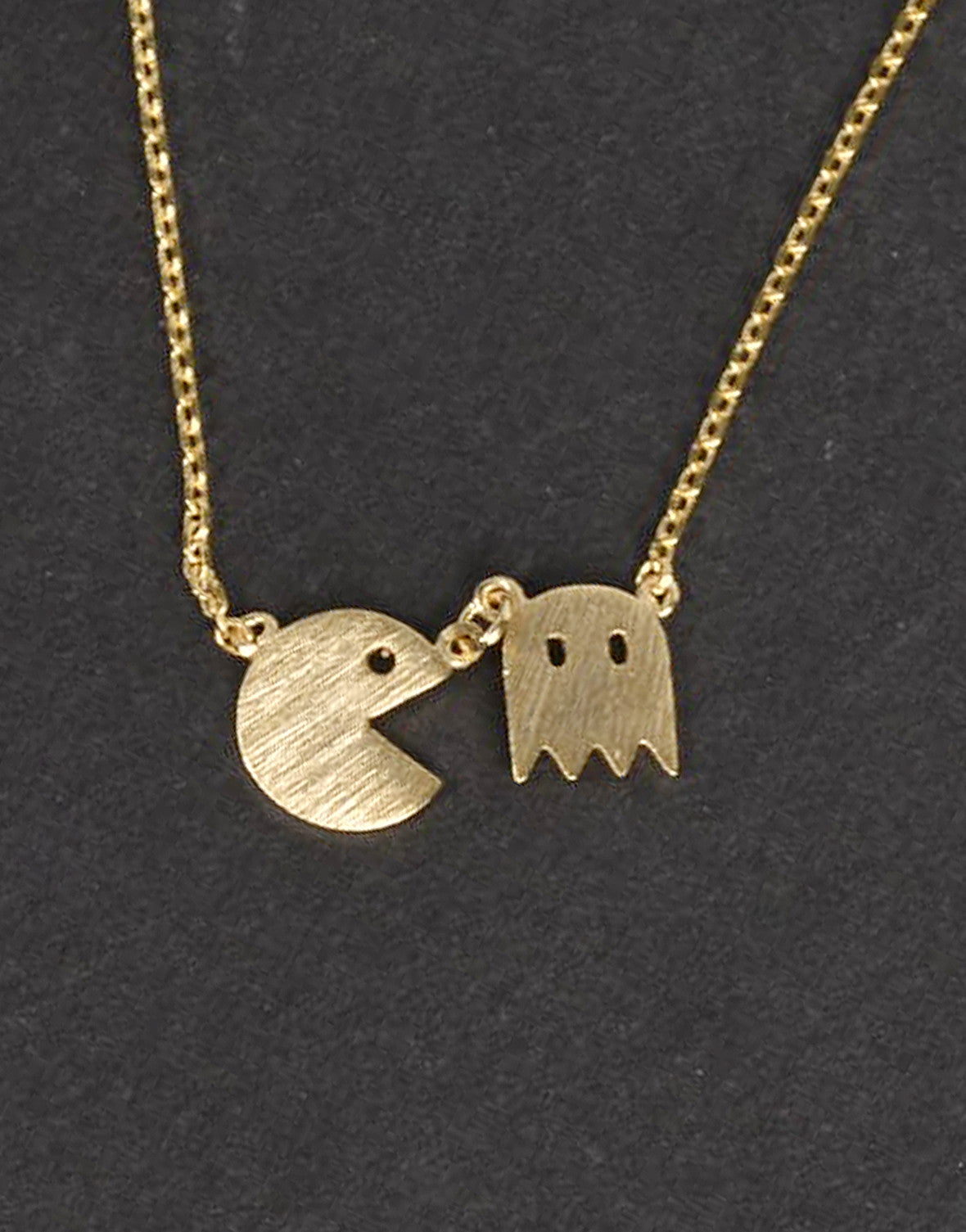 Mini Pacman Pendant Necklace