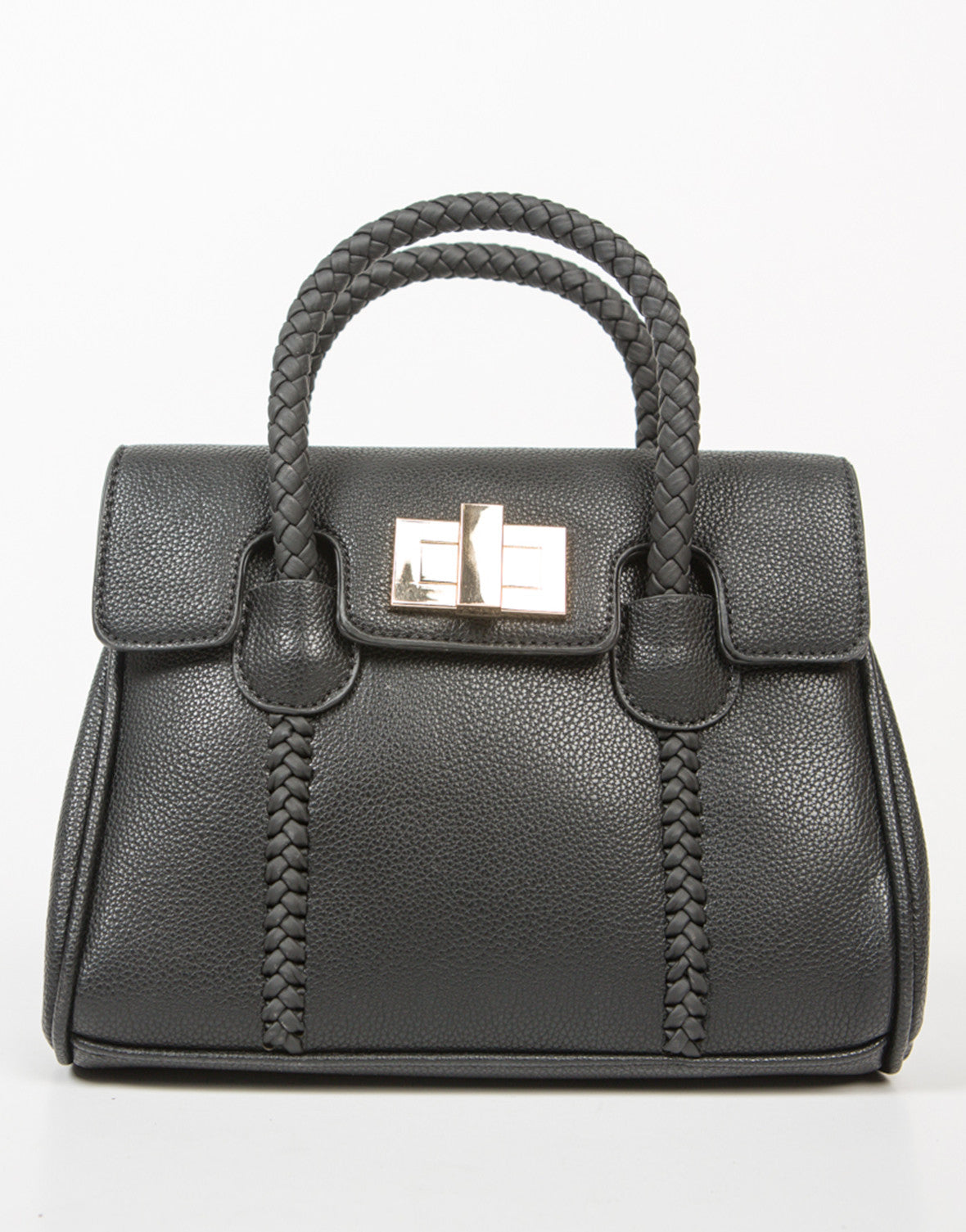 Front View of Mini Structured Crossbody Handbag
