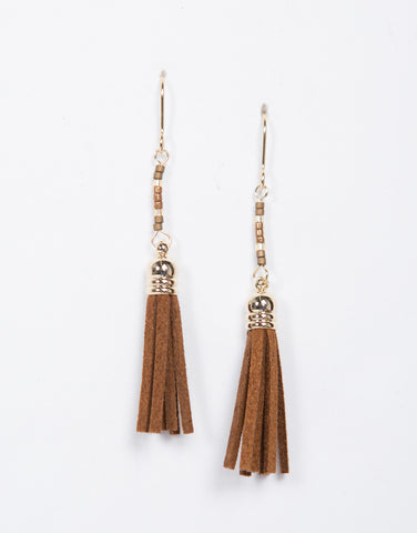 Mini Suede Tassel Earrings - 2020AVE