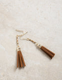Mini Suede Tassel Earrings