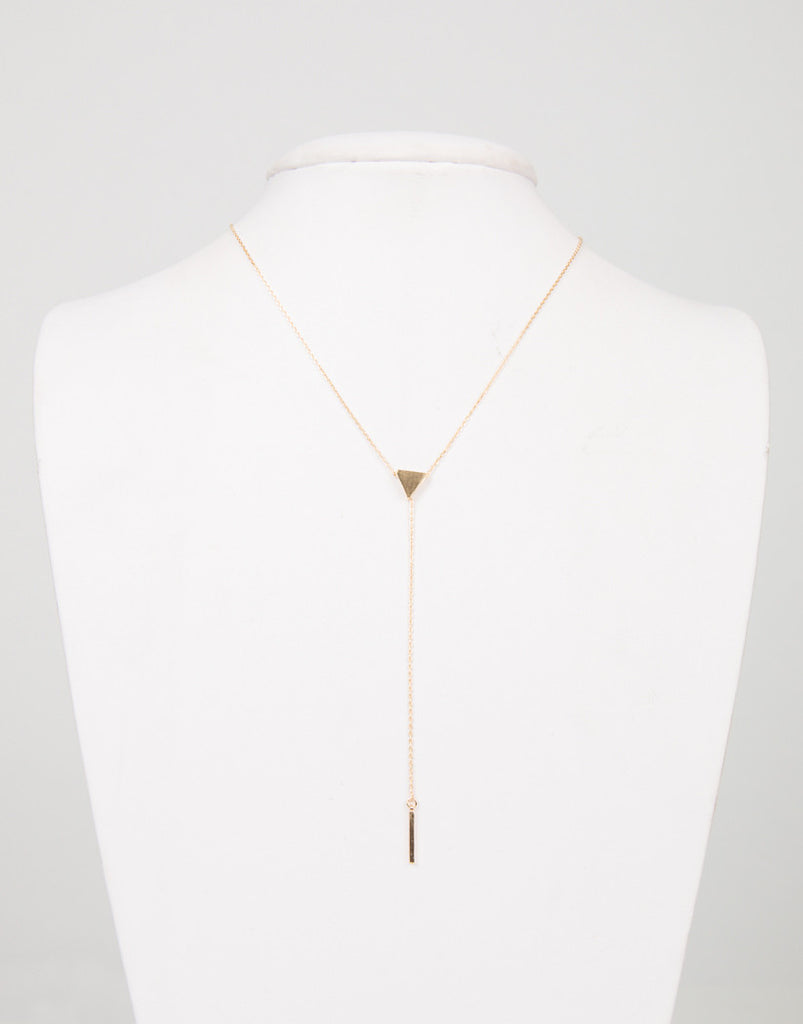 Mini Triangle Bar Drop Pendant Necklace - 2020AVE