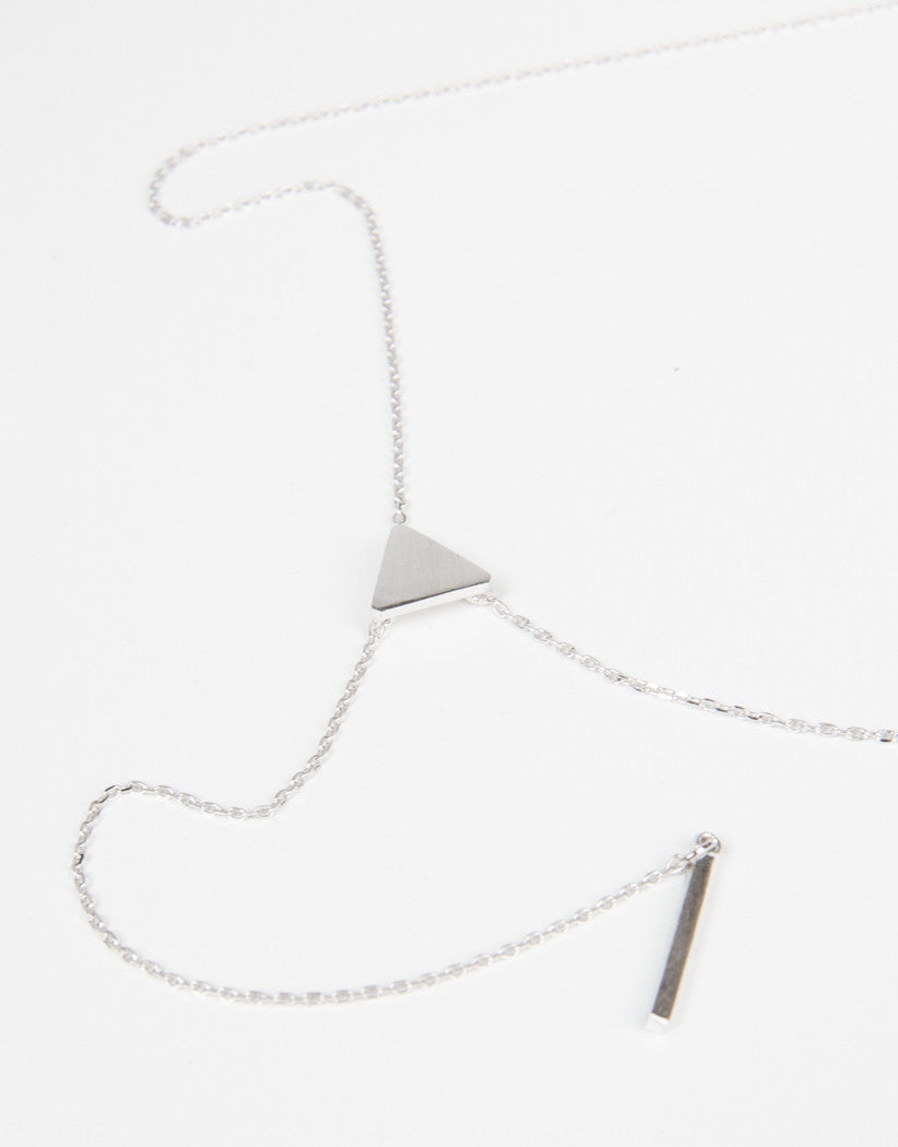 Detail of Mini Triangle Bar Drop Pendant Neckace