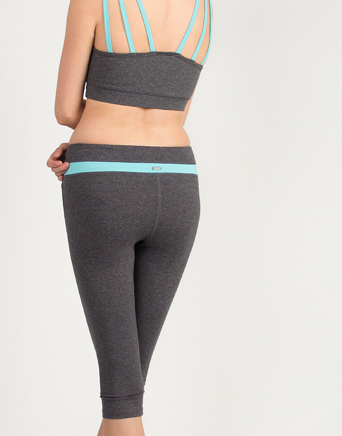 Mint Strip Yoga Capri Pants - 2020AVE